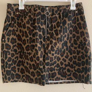 Charlotte Russe Leopard Print Skirt